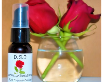 Rosewater Facial Serum With DMAE and MSM (Vegan Friendly)