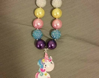 Child size chunky bead necklace