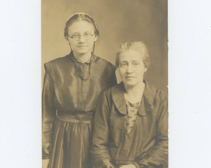 Vintage Snapshot Photo: Lucy & Daughter, Vera (711617)