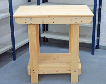 2.5FT Wooden Workbench    Handmade   VERY STRONG & STURDY   Next Day Delivery   Top Quality!