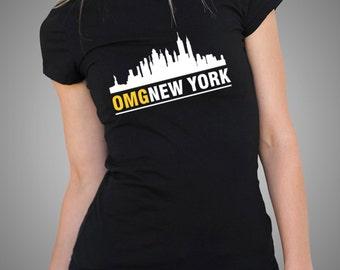 OMG New York T Shirt Funny Tees New York Top