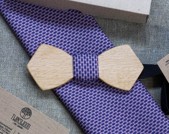 Beech Wood bowtie Retro style + pocketsquare Any personal engraving wooden bow ties. Men Accessories. 100% hand made. Best xmas / bday gift.