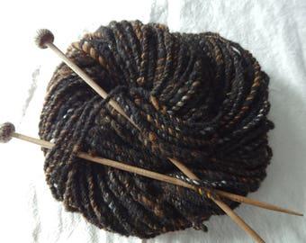 Knittin' BIll handspun Shetland yarn with alpaca, merino and silk,66 yards