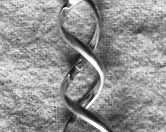 Spiral Sterling Silver Long Twisted Bale, Handcrafted, Artisan, Lost Wax Cast, Ocean, Islands, B2