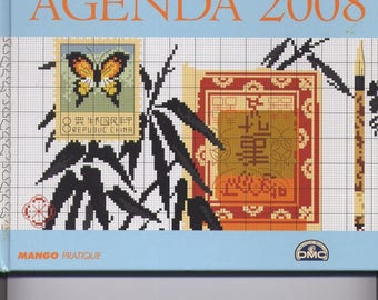 Scheduled 2008 travel themed cross stitch book