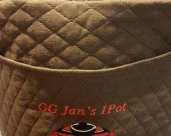 Personalized quilted Instant Pot cover for 3, 6, and 8 quart sizes......Also fits Air Fryers