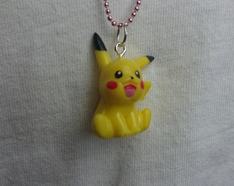 Pikachu Pokemon, 90's Grunge, Bead Chain Necklace!
