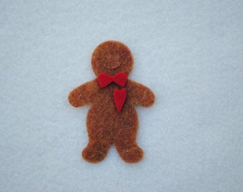 20 Piece Die Cut Felt Gingerbread Men, Copper