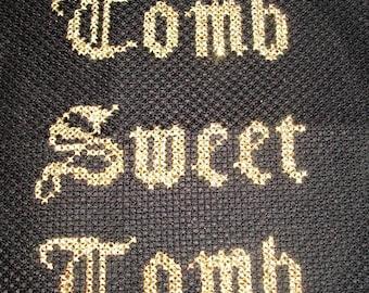 Tomb Sweet Tomb Gothic Halloween cross stitch pattern
