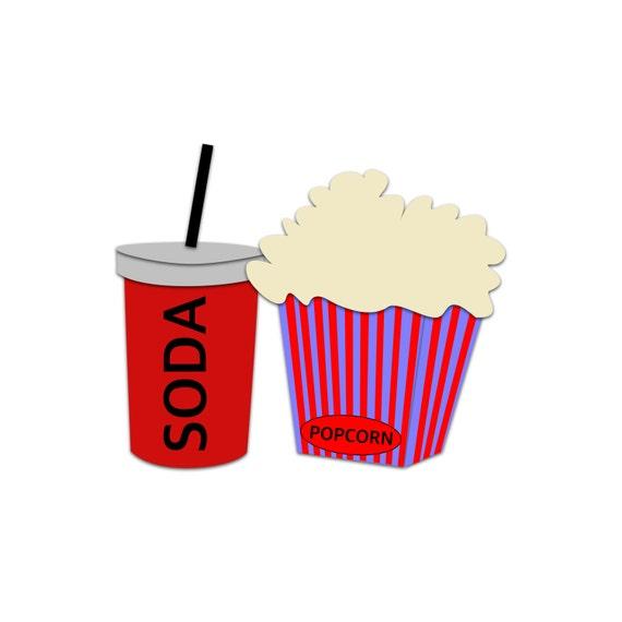 popcorn clipart soda clipart movie snacks clipart cinema rh etsy com movie clip art free download movie clip art borders