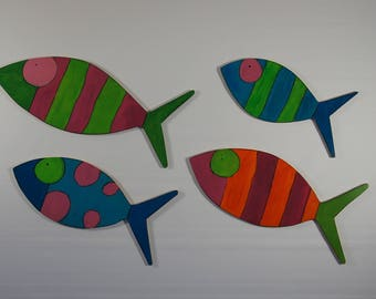 coulaful Fish Place Mats (4)