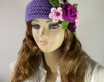 KNITTING PATTERN Headband - Primrose Headband Ear warmer crochet Flowers Knit Hair Accessorie Knitted Hairband pdf pattern Instant Download