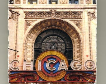 Chicago Theater Sign - Chicago, IL - Original Coaster