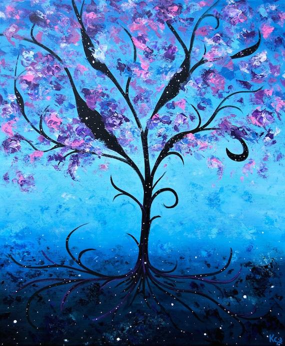 Cosmic Life Tree Print