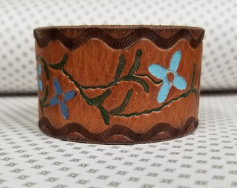 Jkleathers leather cuff hand stamped optional wear your story bracelet custom personalized