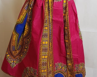 Gorgeous Pink Dashiki Angelina Skirt
