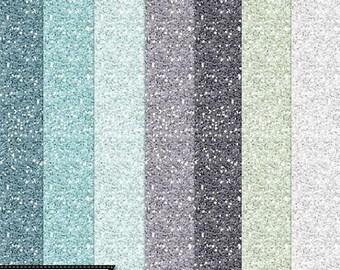 On Sale 50% Be Still 12x12 Glitter Papers, Digital Scrapbooking Kit