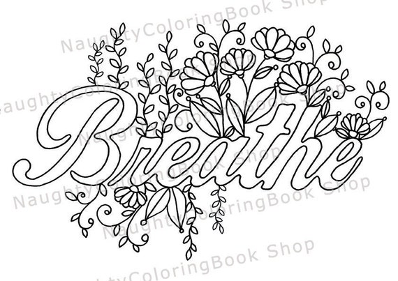 Breathe Printable Gift Coloring