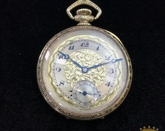 Helbros Geneva Swiss OF Pocket Watch Beautiful RARE FIND