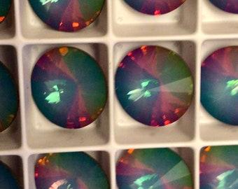 New from Swarovski!  Four white opal electrica I  crystals - Art. 1122 - 12 mm - white opal electrica I