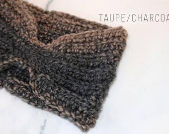 Crochet Ear Warmer, Crochet Headband, Winter Headband, Wool Ear Warmer, Winter Accessory, Womans Ear Warmer, Adult Headband