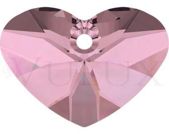 Wholesale Swarovski Crazy 4 U Heart 6260 - 27 MM Antique Pink (ANTP)