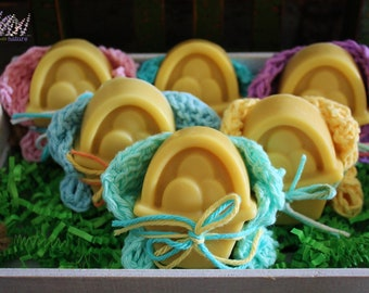 Handmade Baby Soap with Buttermilk, all natural, handcrafted, spring designs, Easter bunny, Basket of Eggs