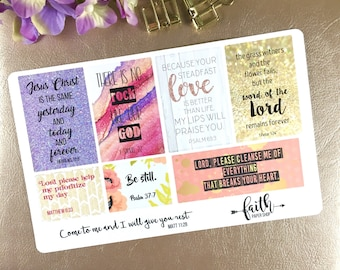 Scripture stickers for Bible Journaling or Planner. Planner stickers, christian stickers, Happy Planner, ECLP, Crossway ESV, bible.