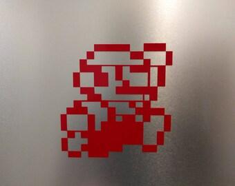 8Bit NES Mario Jumping Vinyl Decal Sticker