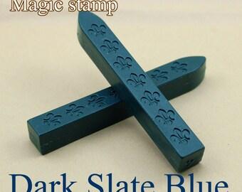 2pcs Dark Slate Blue Sealing Wax Sticks for Wax Seal Stamp