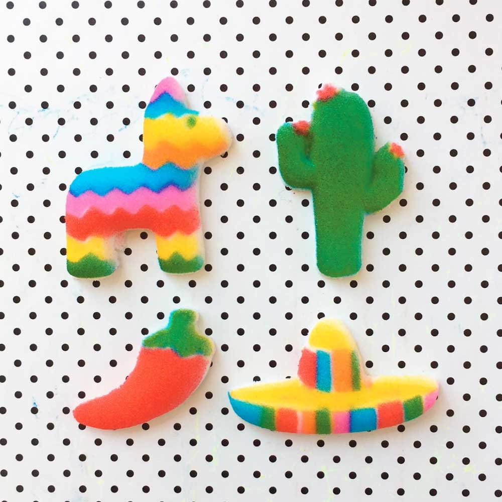 Fiesta Cake Toppers (12) Edible Decorations, Mexican Fiesta, Fiesta ...