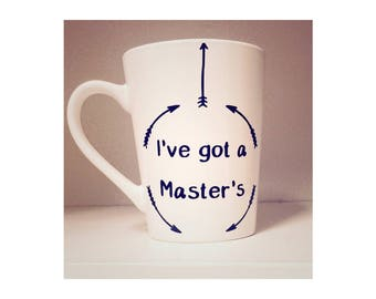 I've got a Master's Decal for Mug, Master's Degree Completion Decal for Mug, Master's Graduation Gift Idea