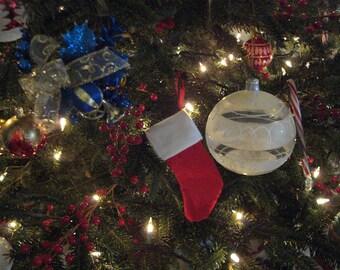 Strümpfe rot Weihnachtsschmuck für Ihren Baum 3er Set