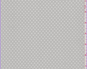 Pale Grey Athletic Mesh, Fabric By The Yard