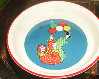 Vintage Barnum's Animals - Nabisco - Child Cereal bowl - Clown and Balloons