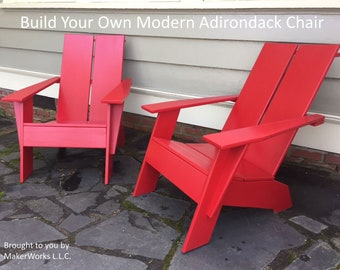 Build Your Own Modern Adirondack Chair