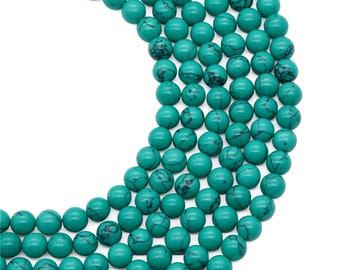8mm Howlite Turquiose Beads, Turquiose Stone, Gemstone Beads, Wholesale Beads