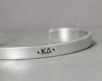 Sorority Bracelet, Kappa Delta Bracelet, Sorority Jewelry, Personalized Jewelry, Hand Stamped Jewelry, Kappa Delta Jewelry
