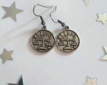 Zodiac Sign Libra Earrings
