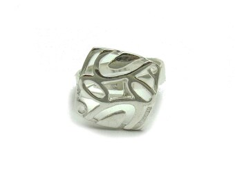 Sterling silver ring solid 925 handmade pendant