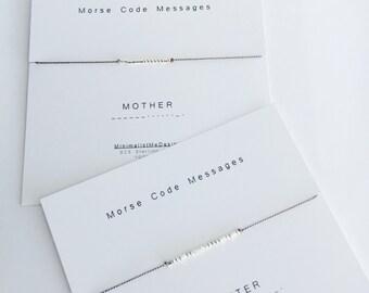 MOTHER/DAUGHTER - Morse Code Bracelet set