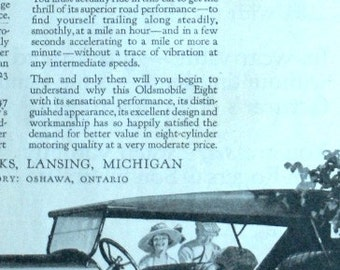 Oldsmobile Eight Model 47 Advertisement 1921 Saturday Evening Post
