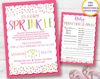 Baby Sprinkle Invitation, Baby Girl Boy Sprinkle, Baby Shower, Sprinkle, Girl, Invitation, Pink, Digital