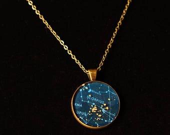 Scorpio Zodiac Pendant w 30inch chain