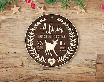 Personalized Baby Christmas Ornament, Baby First Ornament, First Christmas Baby Ornament, First Christmas, First Christmas Baby 77