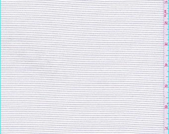 White/Black Stripe Stretch Twill, Fabric By The Yard
