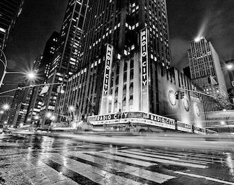 Radio City Music Hall - New York City - Black and White - Photography - Art - Print - Photo - NYC - Music - Skyline - Cityscape - Manhattan
