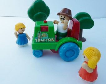 Toy Little People Plastic with green tractor