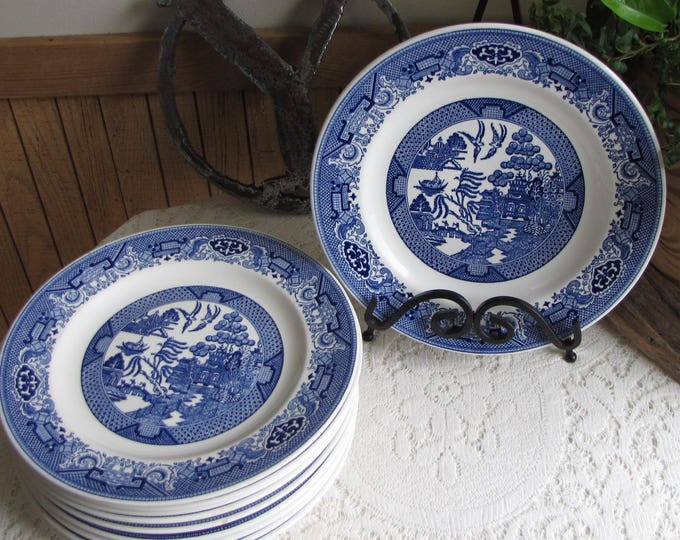 Blue Willow Dinner Plates Royal China Vintage Dinnerware and Replacements Ten (10) Available Priced Individually