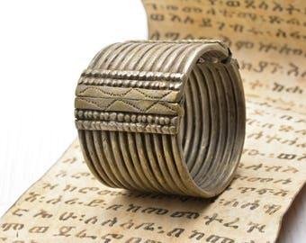 Antique Ethiopian African cuff bracelet jewelry